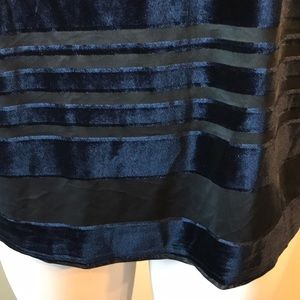 Simply Emma Tops - NWT Simply Emma Stripped Velvet Dress Top Top